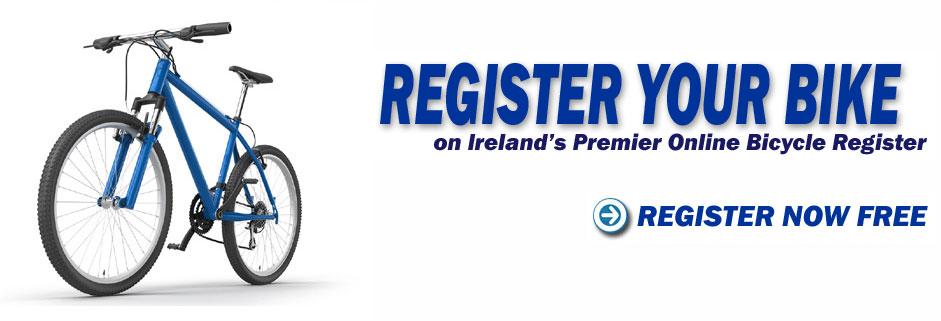 register your bike on Ireland's Premier online bicycle register